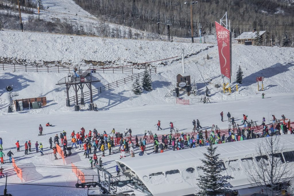 Lift line for Park City. Clark Weeks probably somewhere in line waiting for skiing
